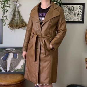 Jackets & Blazers - VTG • leather trench coat